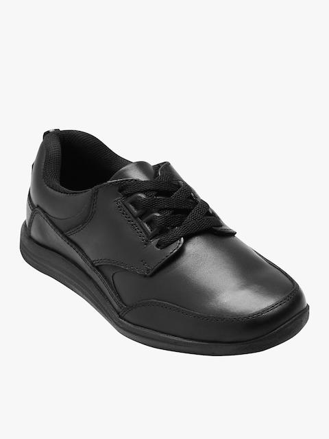 next Boys Black Leather Dress Shoes