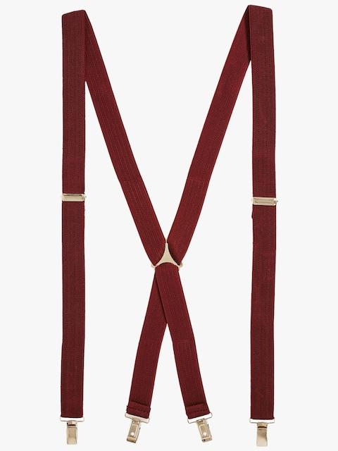 next Maroon Self Striped Suspenders