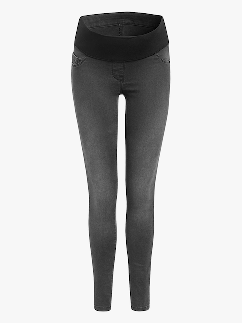 next Women Grey Skinny Fit Mid-Rise Maternity Jeans
