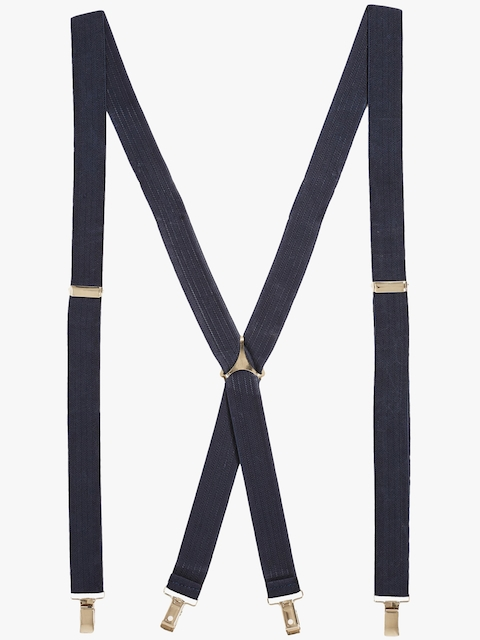 next Navy Blue Self Striped Suspenders