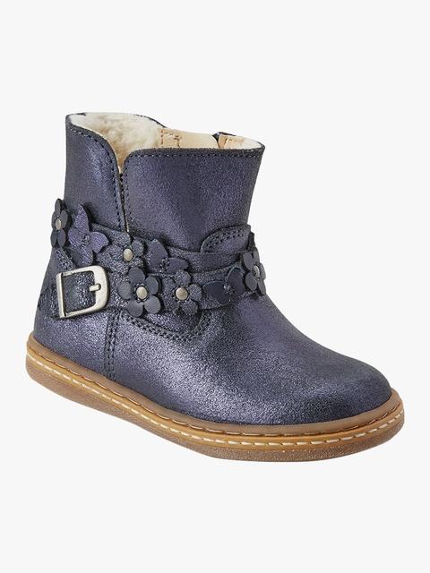 next Girls Blue Mid-Top Flat Boots