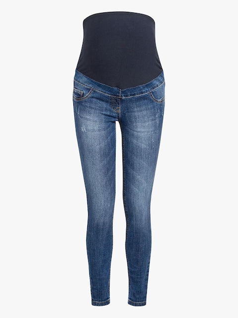next Women Blue Skinny Fit High-Rise Maternity Jeans