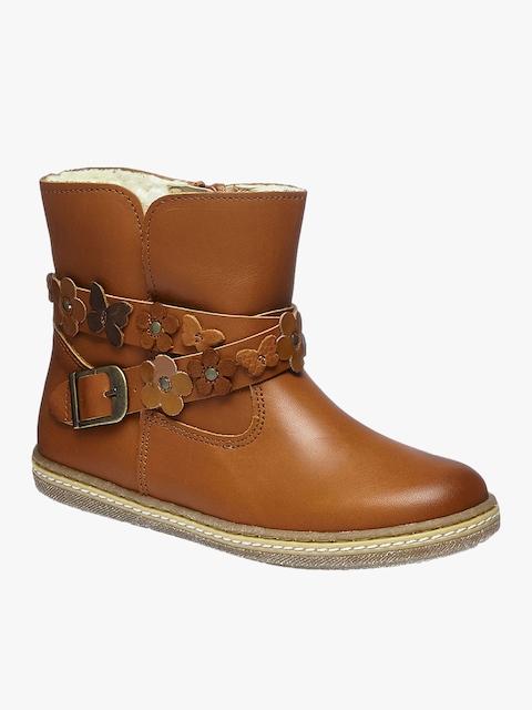 next Girls Brown High-Top Flat Boots