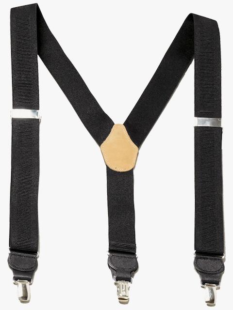 next Black Solid Suspenders