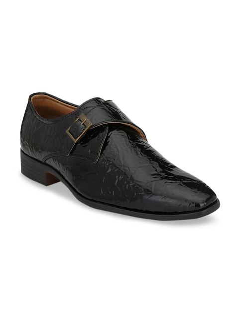Prolific Men Black Formal Monk Shoes