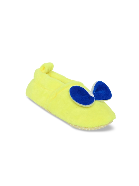 My Soul Kids Yellow Solid Booties