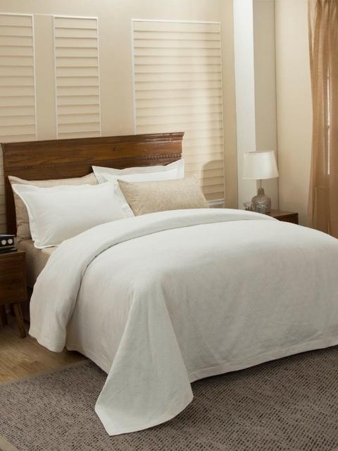 MASPAR Beige Double Bed Cover