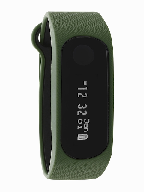 Fastrack Unisex Green & Black Reflex 2.0 Smart Band