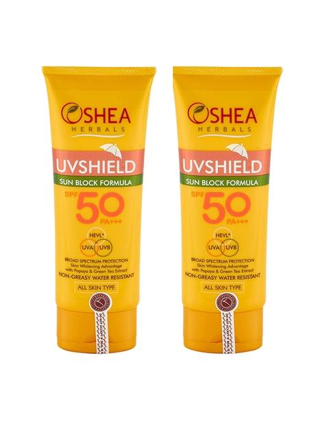 Oshea Herbals Set of 2 UV Shield Sun Block Formula 60gm