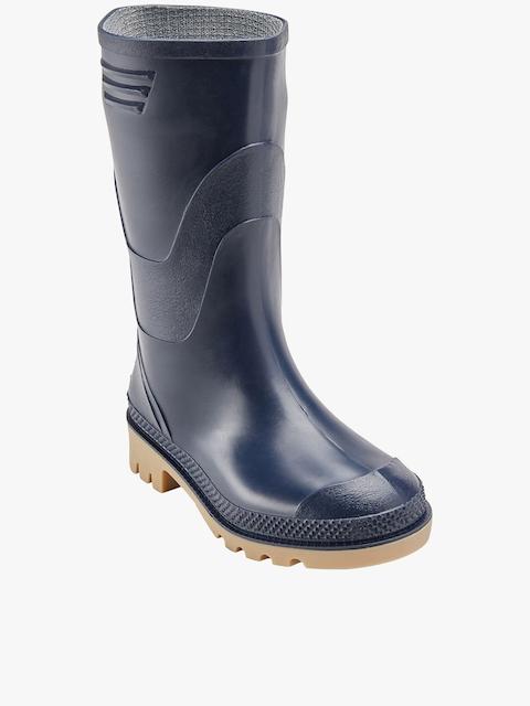 next Blue High-Top Flat Boots