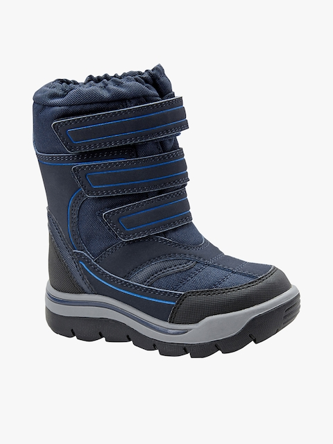 Blue High-Top Flat Boots