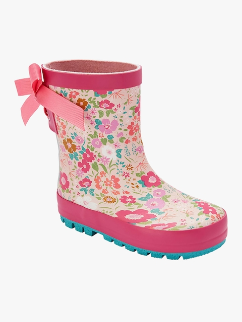 next Girls Pink High-Top Flat Boots