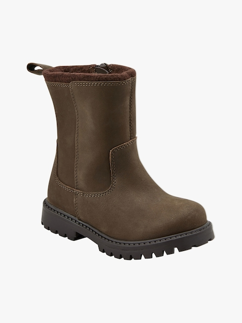 next Brown Leather High-Top Flat Boots
