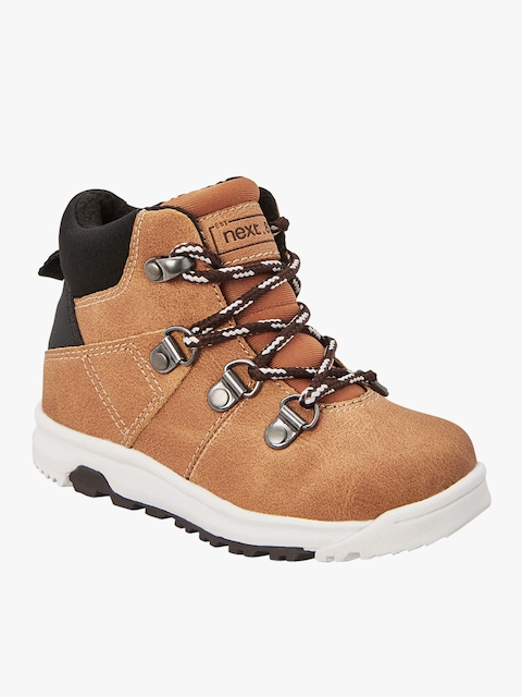 Tan Mid-Top Flat Boots