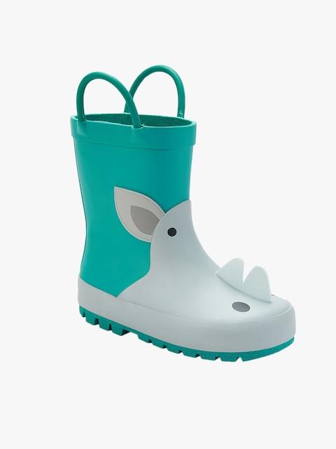 Grey High-Top Flat Boots