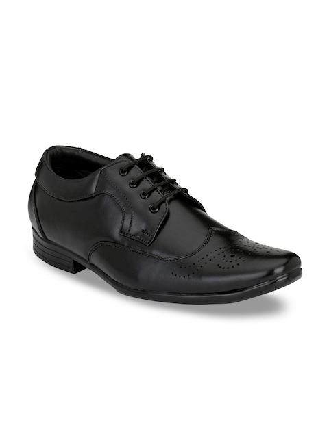 Prolific Men Black Formal Leather Derbys