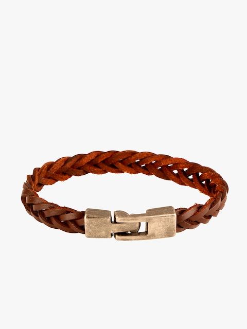 Peora Brown Stainless Steel Wraparound Bracelet