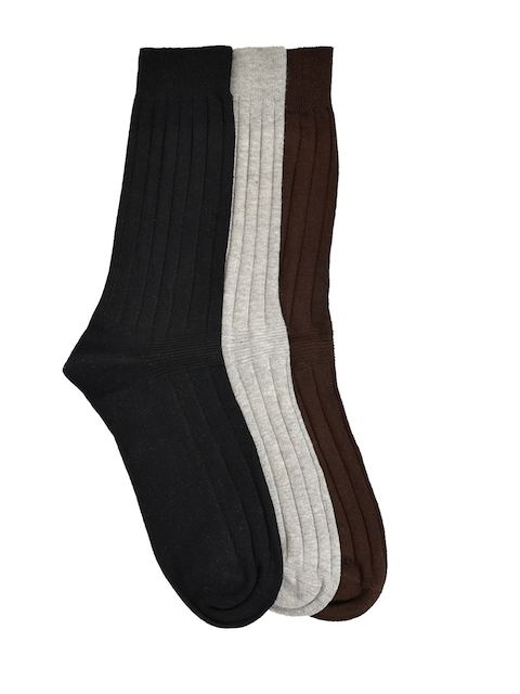 MARC Men Pack of 3 Multicoloured Calf-Length Socks