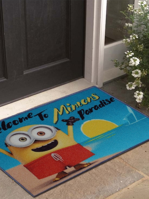 Disney Athom Trendz Multicoloured Minion Printed Anti-Skid Doormat