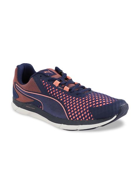 Puma Women Blue Mesh Mid-Top Walking Shoes 18995804