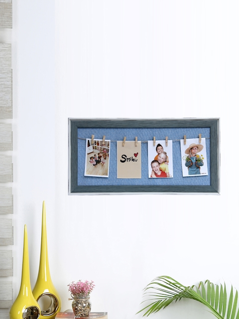 Aapno Rajasthan Unisex Blue Wooden Collage Photo Frame