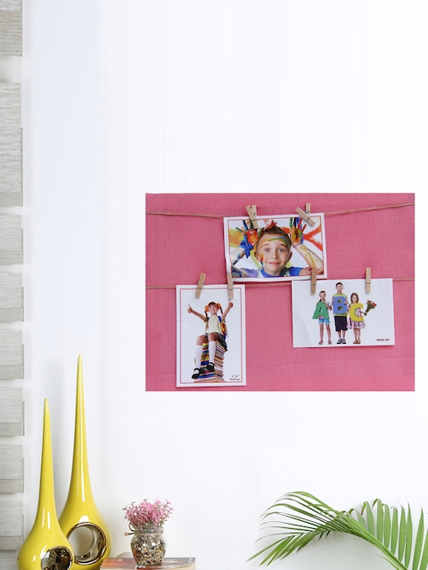 Aapno Rajasthan Unisex Pink Wooden Collage Photo Frame