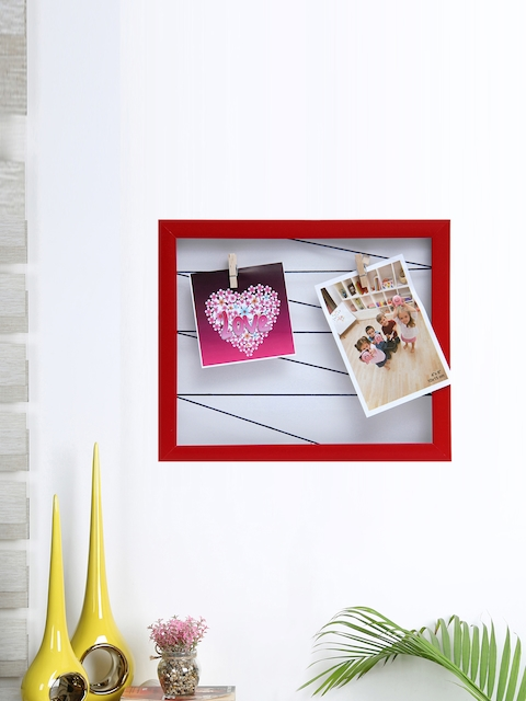 Aapno Rajasthan Unisex Red Wooden Collage Photo Frame