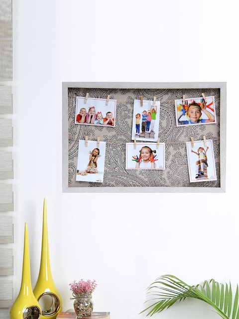 Aapno Rajasthan Unisex Beige Wooden Collage Photo Frame