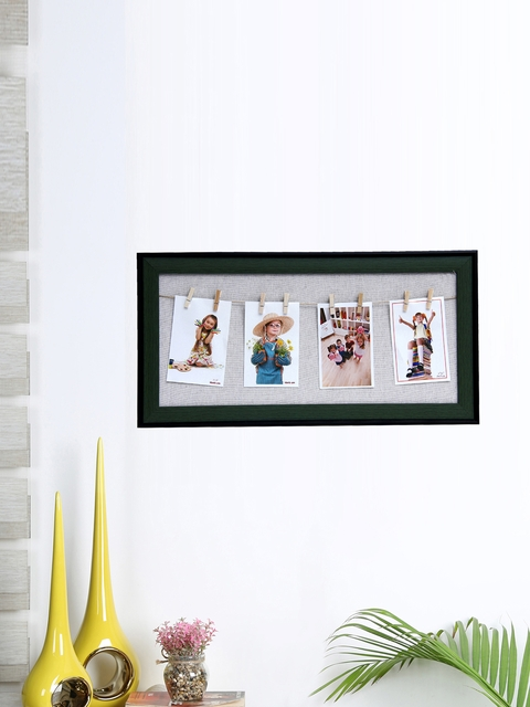 Aapno Rajasthan Unisex Black Collage Photo Frame