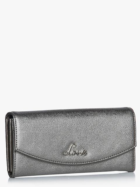 Lavie Women Silver-Toned Solid Two Fold Wallet