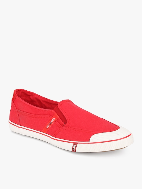 Lee Cooper Men Red Slip-On Sneakers