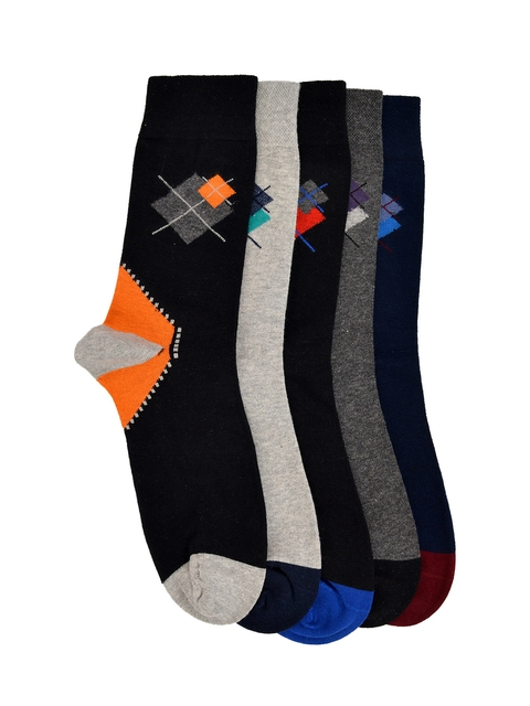 VINENZIA Men Pack of 5 Crew Length Socks