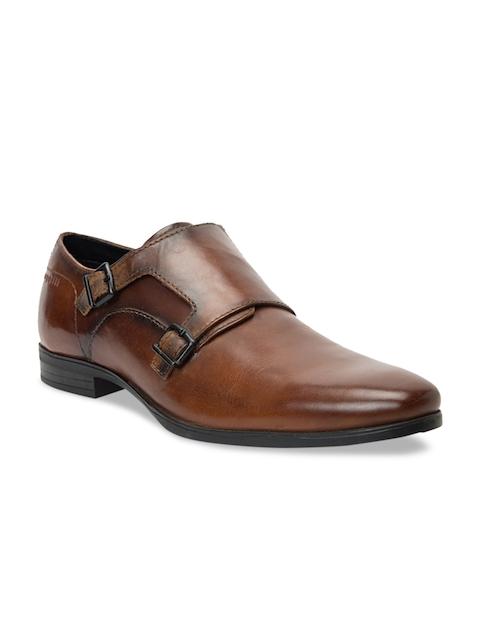 Bugatti Men Brown Leather Formal Monks