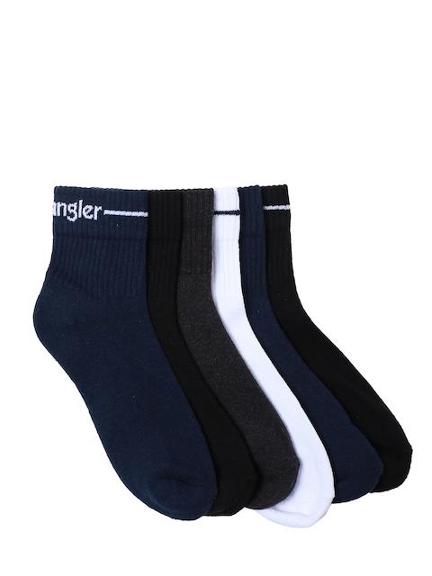 Wrangler Mens Pack of 6 Solid Assorted Ankle-Length Socks