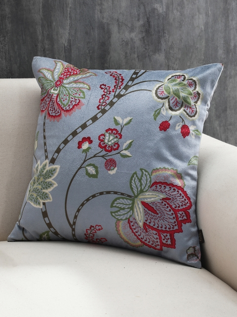 Pure Home and Living Multicoloured Set of Single Floral Square Cushion Covers
