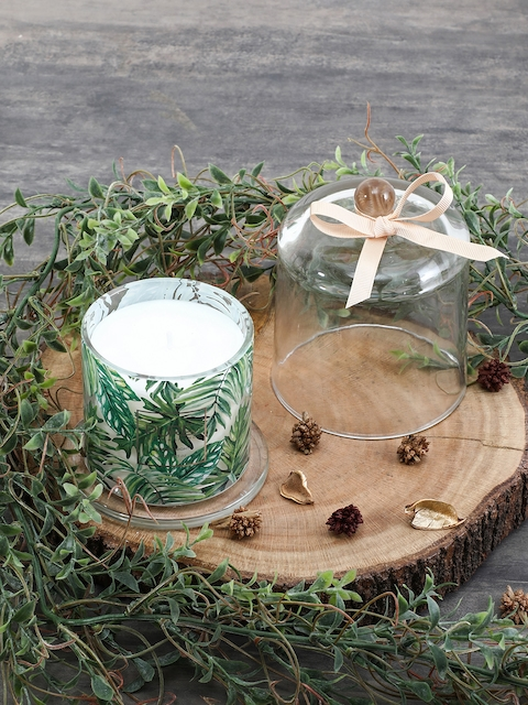 Pure Home and Living Green Aromatic Glass Jar Candle