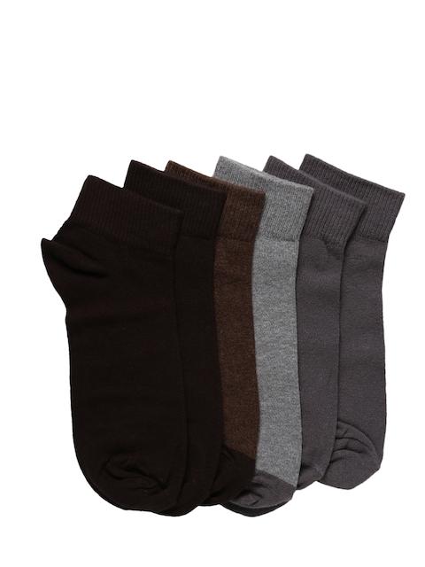 Levis Men Pack of 6 Solid Assorted Ankle-Length Socks
