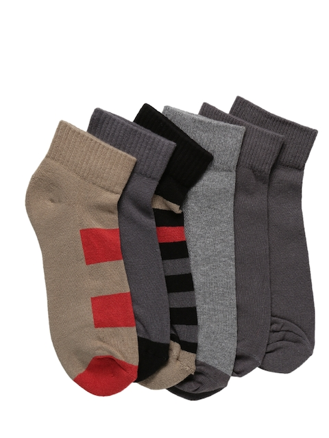 Levis Mens Pack of 6 Solid Assorted Ankle-Length Socks