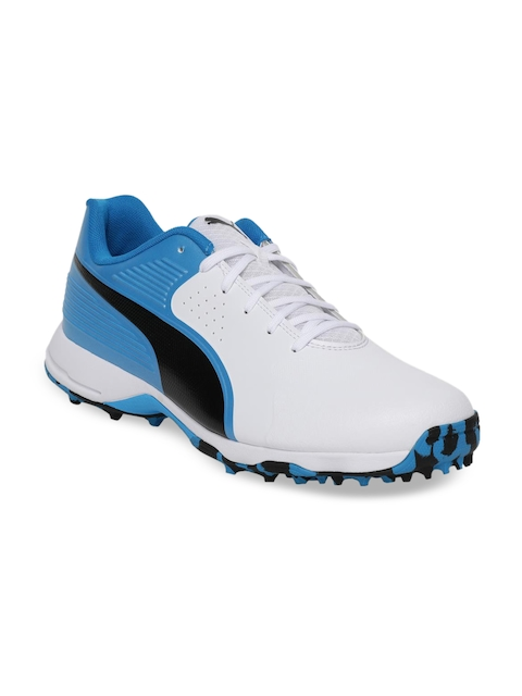 Puma Men White PUMA 19 FH Cricket Shoes
