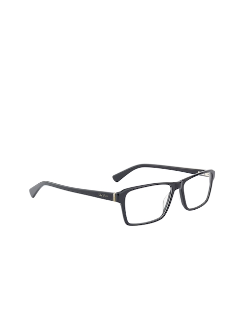 Ted Smith Unisex Black Solid Full Rim Wayfarer Frames TS-119_C1