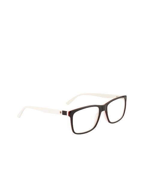 Ted Smith Unisex Black & White Solid Full Rim Rectangle Frames TS-114_C4