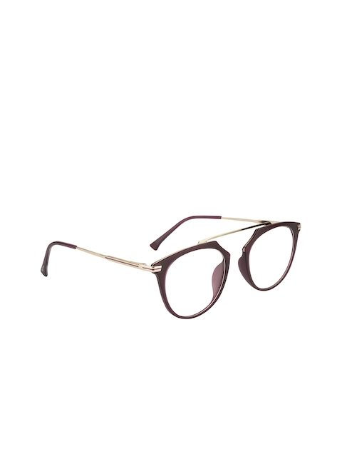 Ted Smith Unisex Purple Solid Full Rim Aviator Frames TS-122_C6