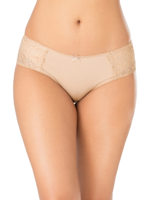 PrettySecrets Women Nude-Coloured Solid Hipster Briefs P0001AW17