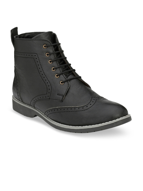 Fentacia Men Black Solid Formal Boots