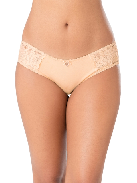 PrettySecrets Women Nude-Coloured Solid Hipster Briefs P003SS18