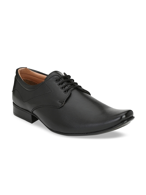Guava Men Black Formal Derbys