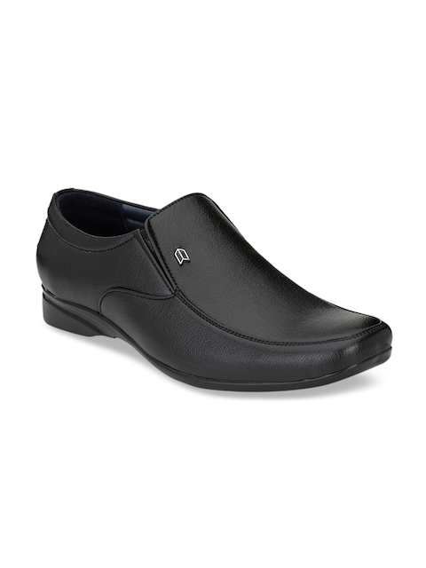 Fentacia Men Black Synthetic Formal Slip-On Shoes