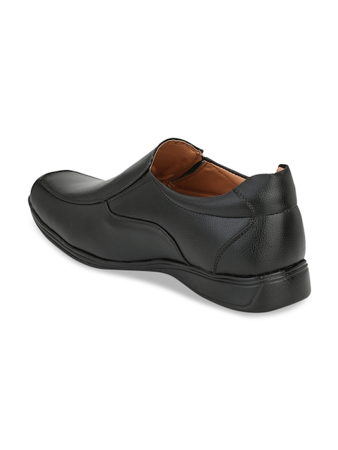 Guava Men Black Formal Slip-Ons