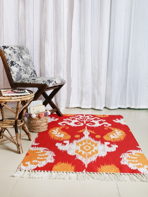 Chumbak Red Printed Carpet