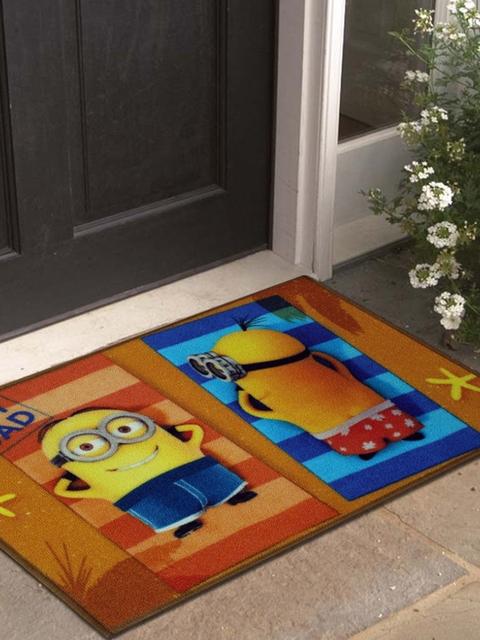Disney Athom Trendz Multicoloured Minion Printed Anti-Skid Doormat